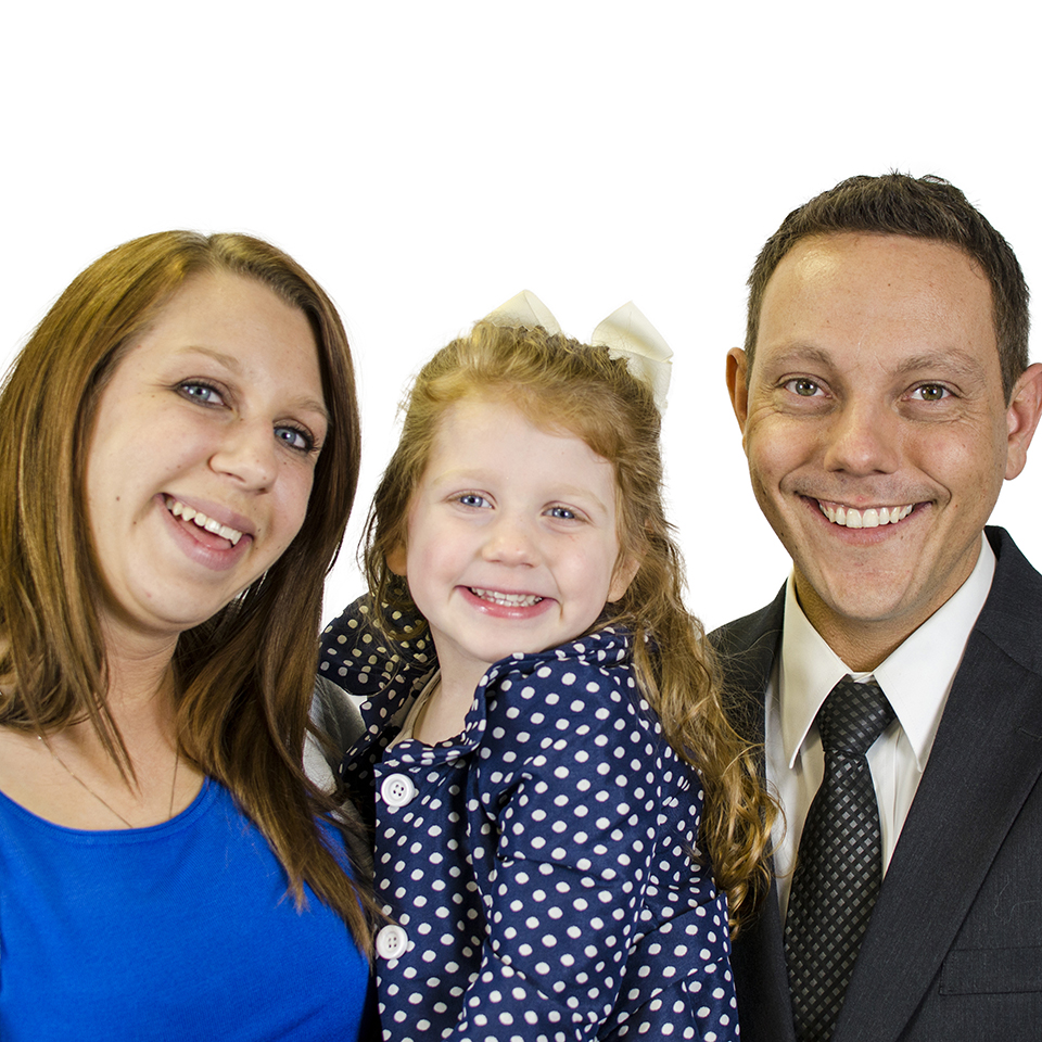 Professional Head Shots and Family Photographer | Jason, Jennifer, Gracie