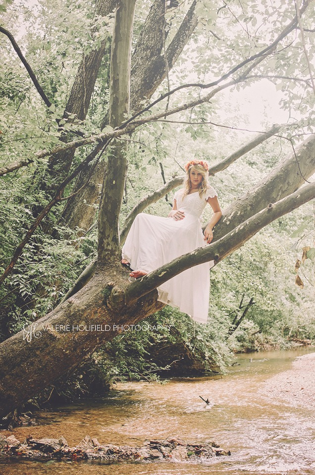 Ashley: you know, just a bride in a creek